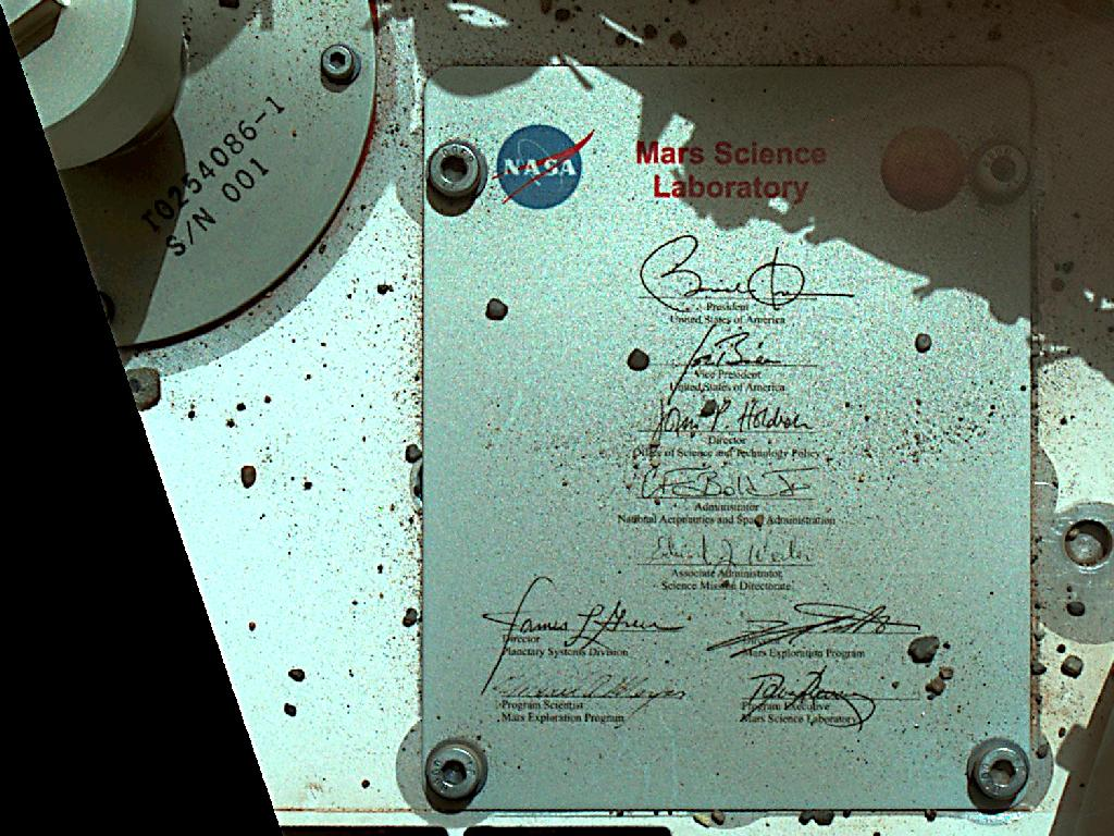 President Obama's Signature Riding on Mars Rover Curiosity