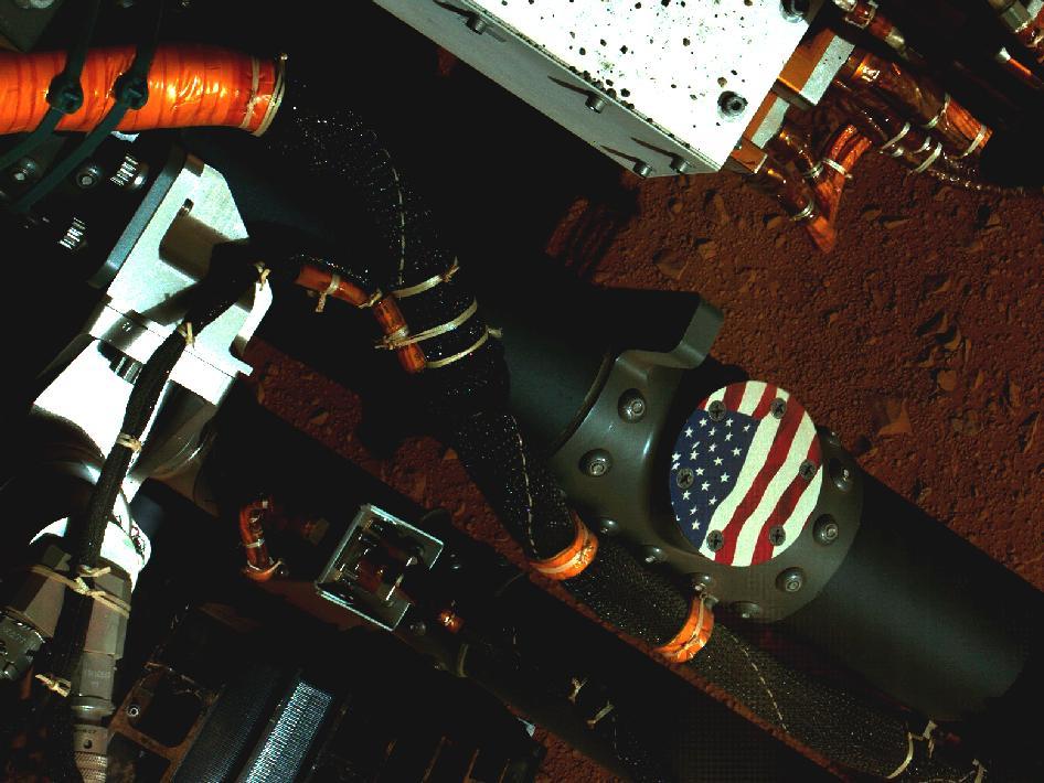Curiosity's Stars and Stripes