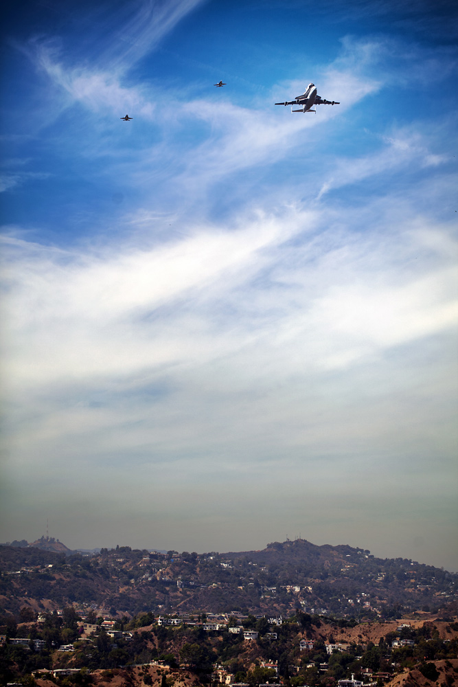 Space Shuttle Endeavour Over Hollywood: Olivia Hemaratanatorn