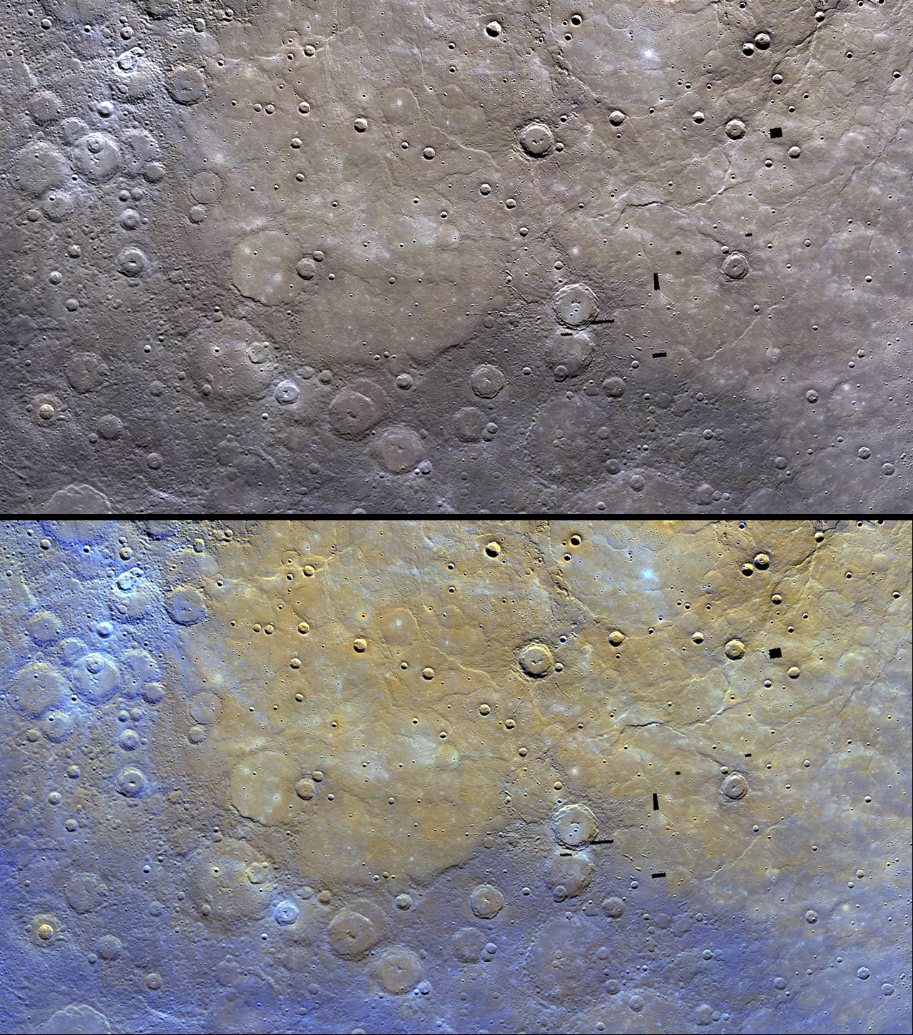 Mercury's Surface Resembles Rare Meteorites