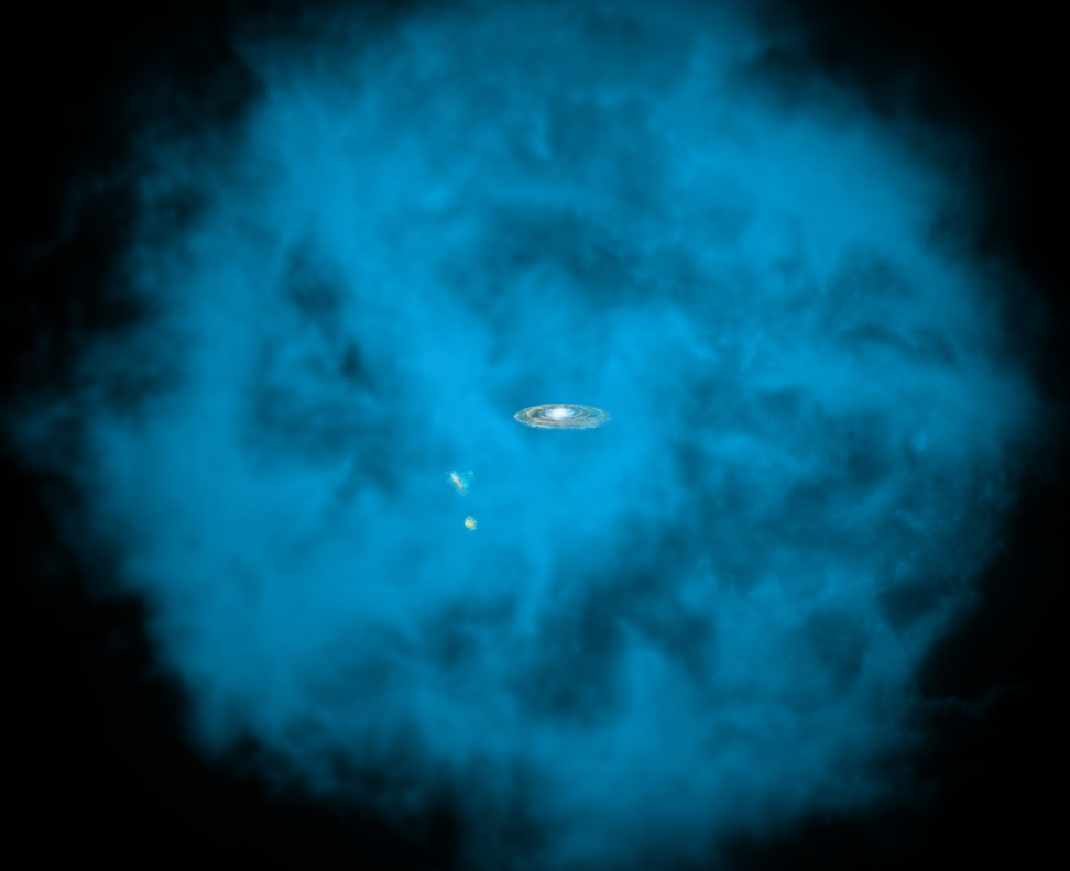 Giant Gas Cloud Surrounds Our Milky Way Galaxy