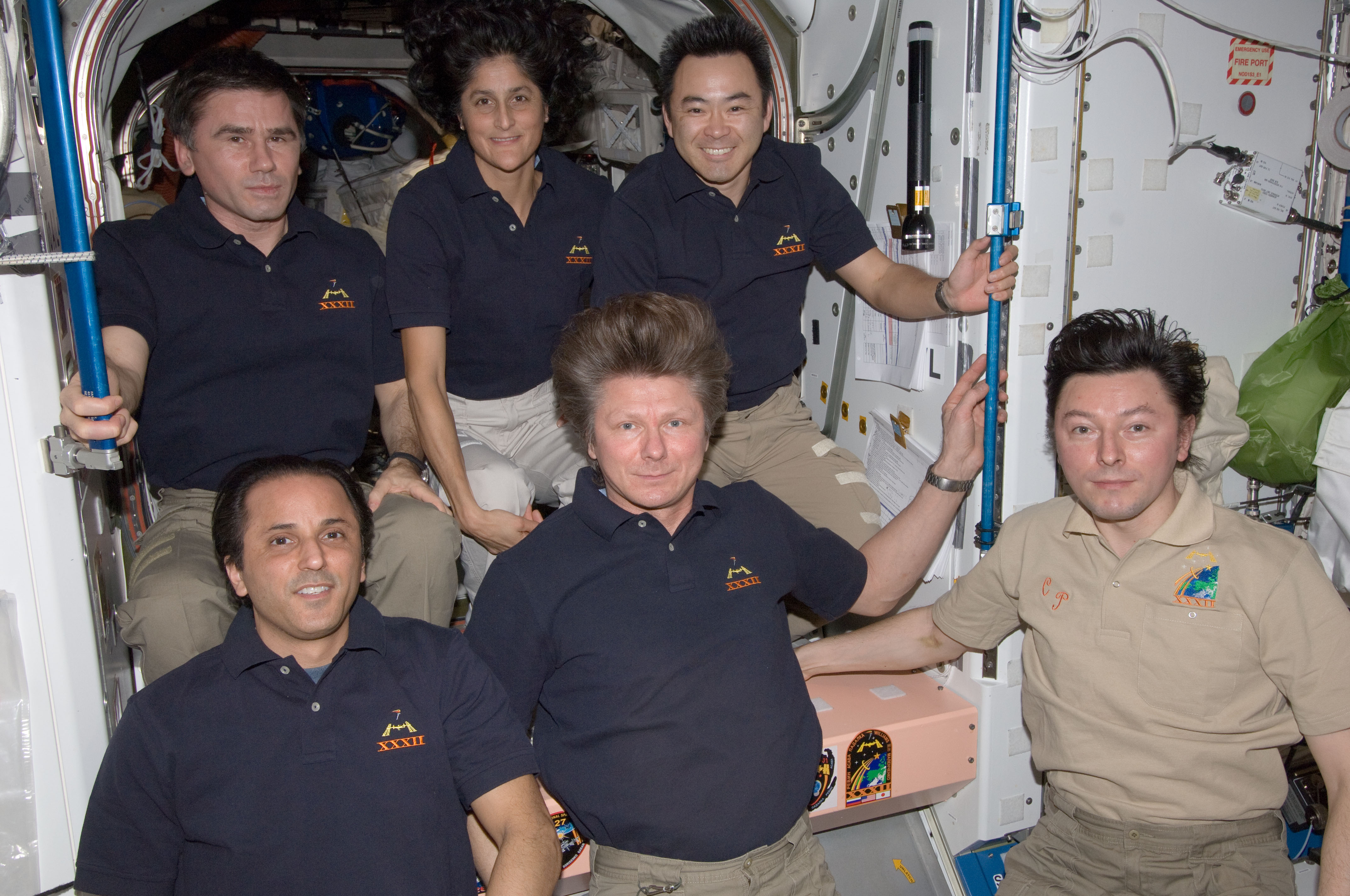 Expedition Crew Poses Following Changing-of-Command Ceremony