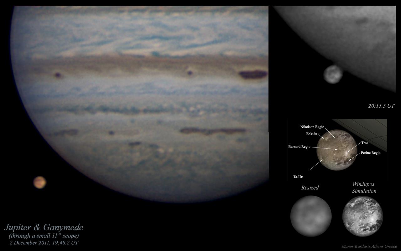 Amateur Astronomer Photographs Jupiter and Ganymede