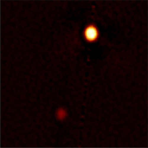 This photo of Pluto (right) and its largest moon Charon is the best visible-light photo of the dwarf planet ever taken from Earth. It was taken by the North telescope at the Gemini Observatory using the speckle imaging technique for better clarity. Image released Sept. 26, 2012.