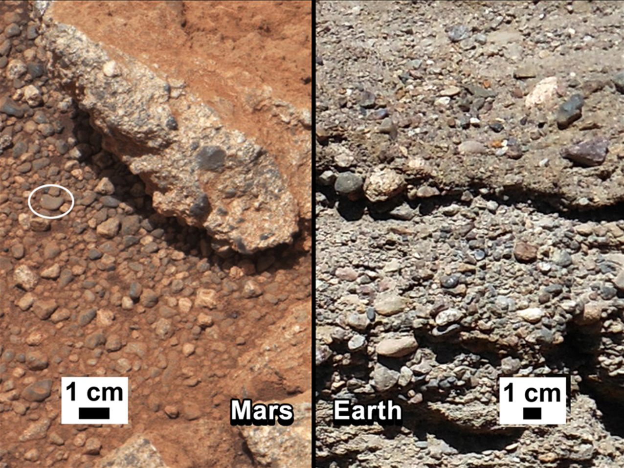 Rock Outcrops on Mars and Earth