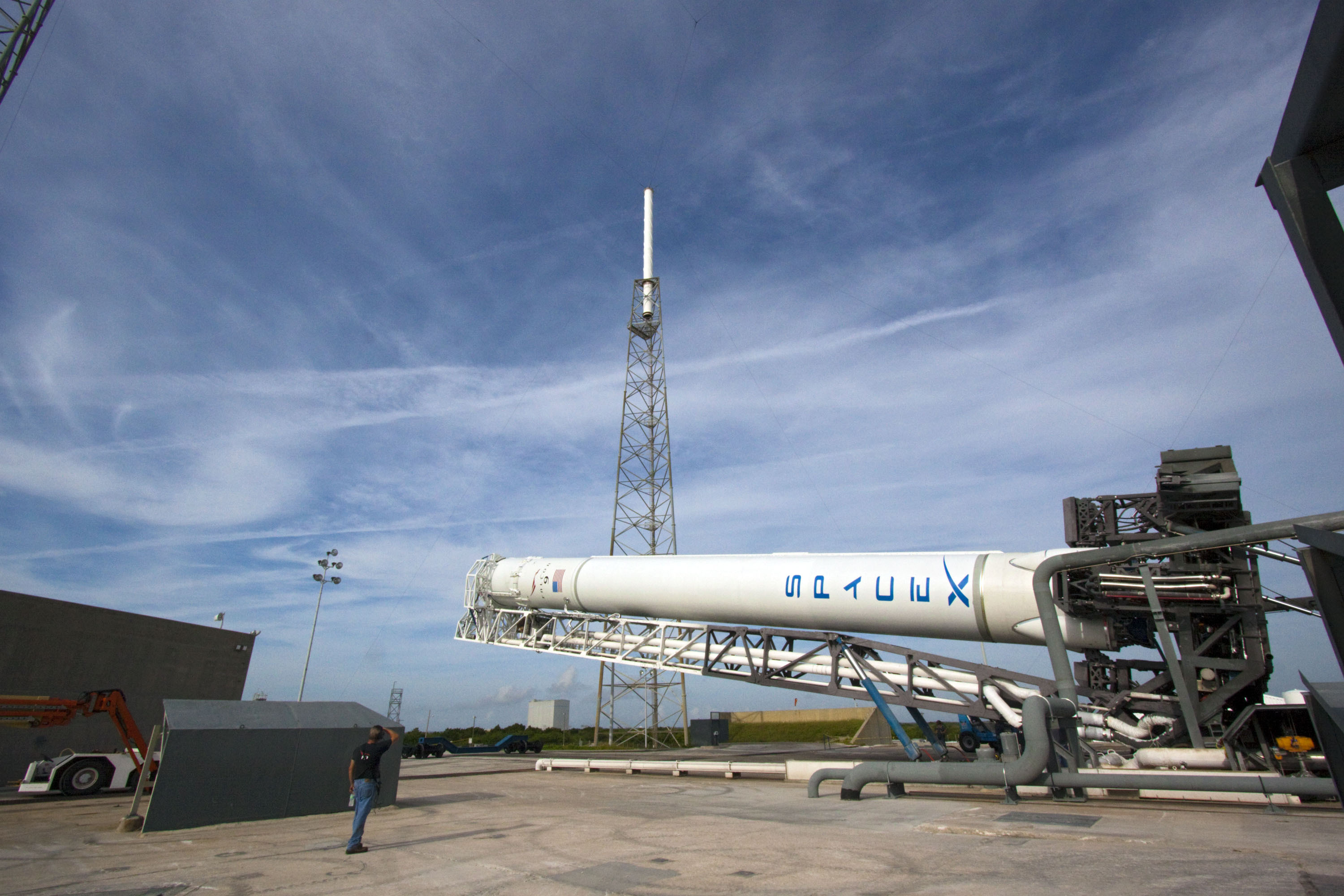 SpaceX's Falcon 9 at Space Launch Complex 40