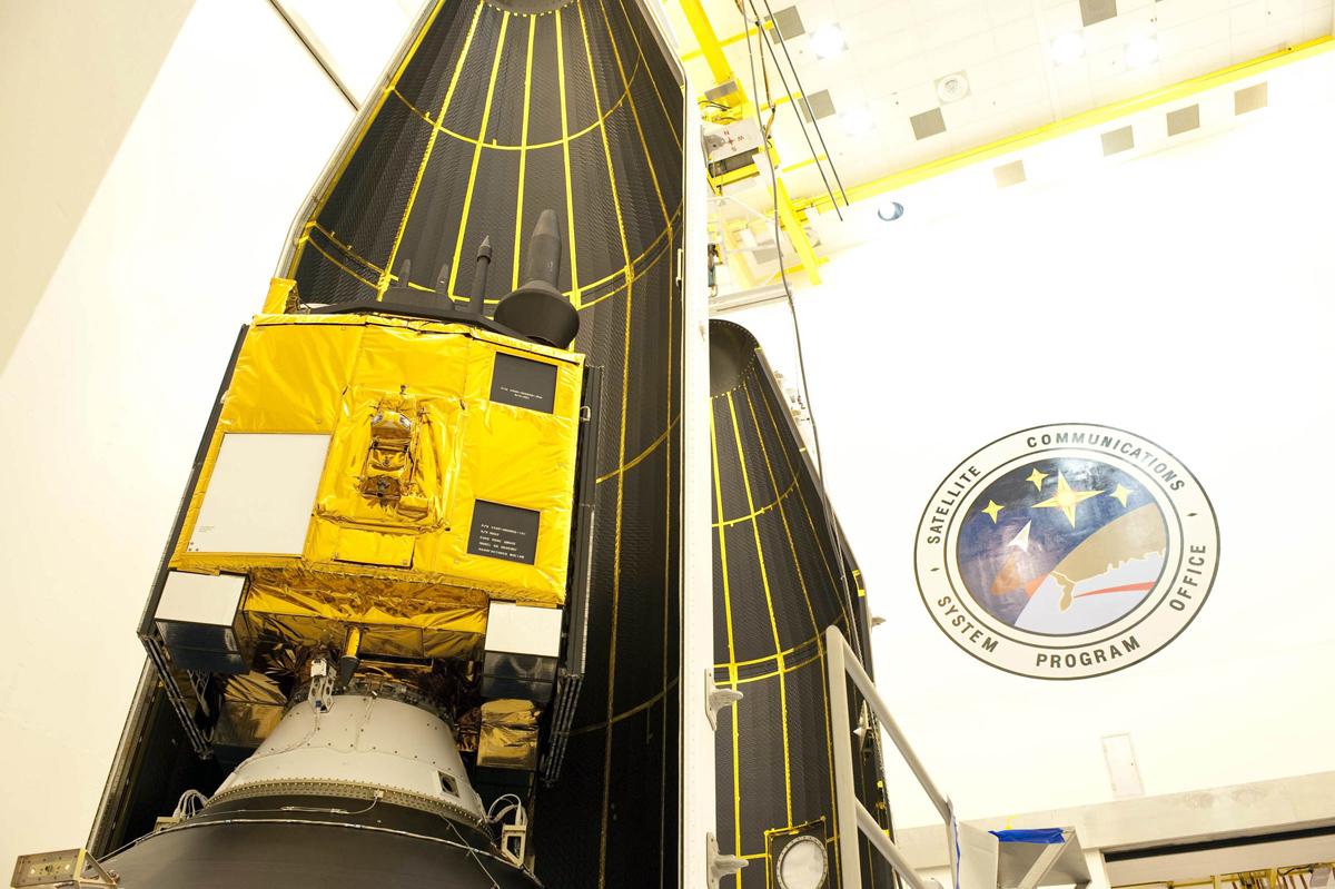 GPS IIF-3 Satellite Encapsulated