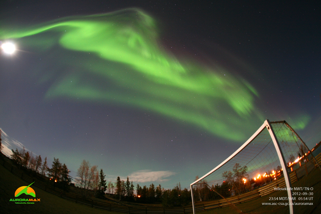 AuroraMax View of Northern Lights: 9/30