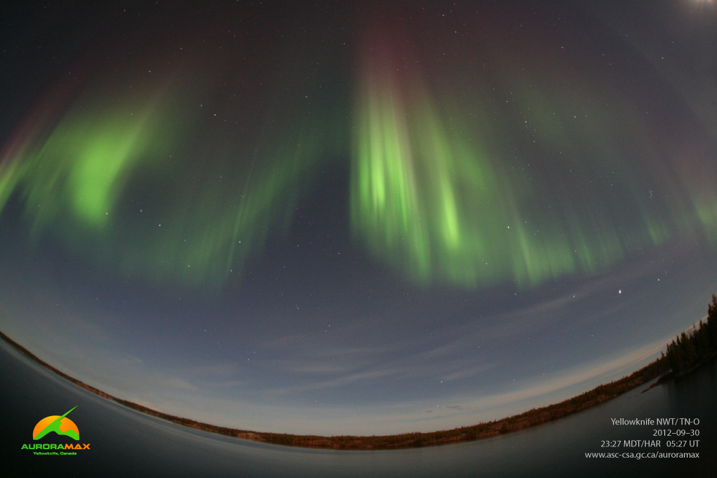 AuroraMax View of Northern Lights: Yellowknife