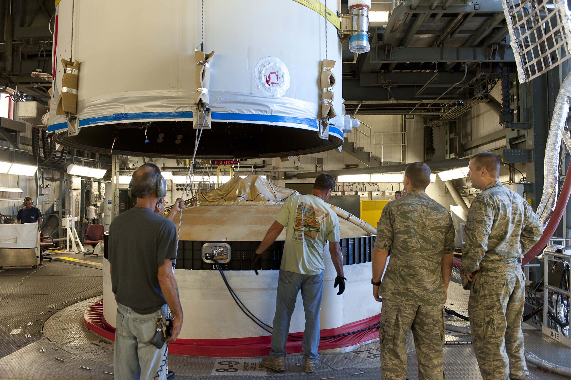 GPS IIF-3 Satellite Encapsulated Mated to Launch Vehicle