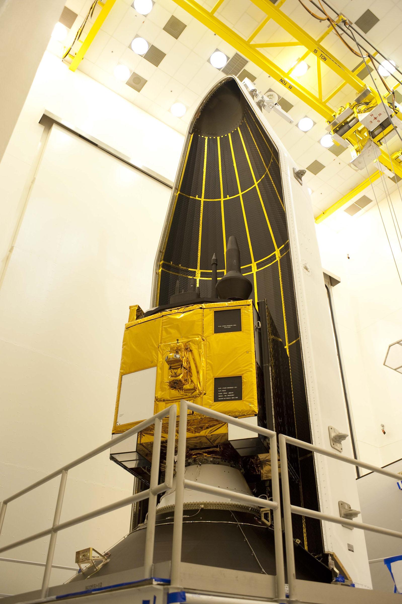 GPS IIF-3 Satellite Inside Delta 4