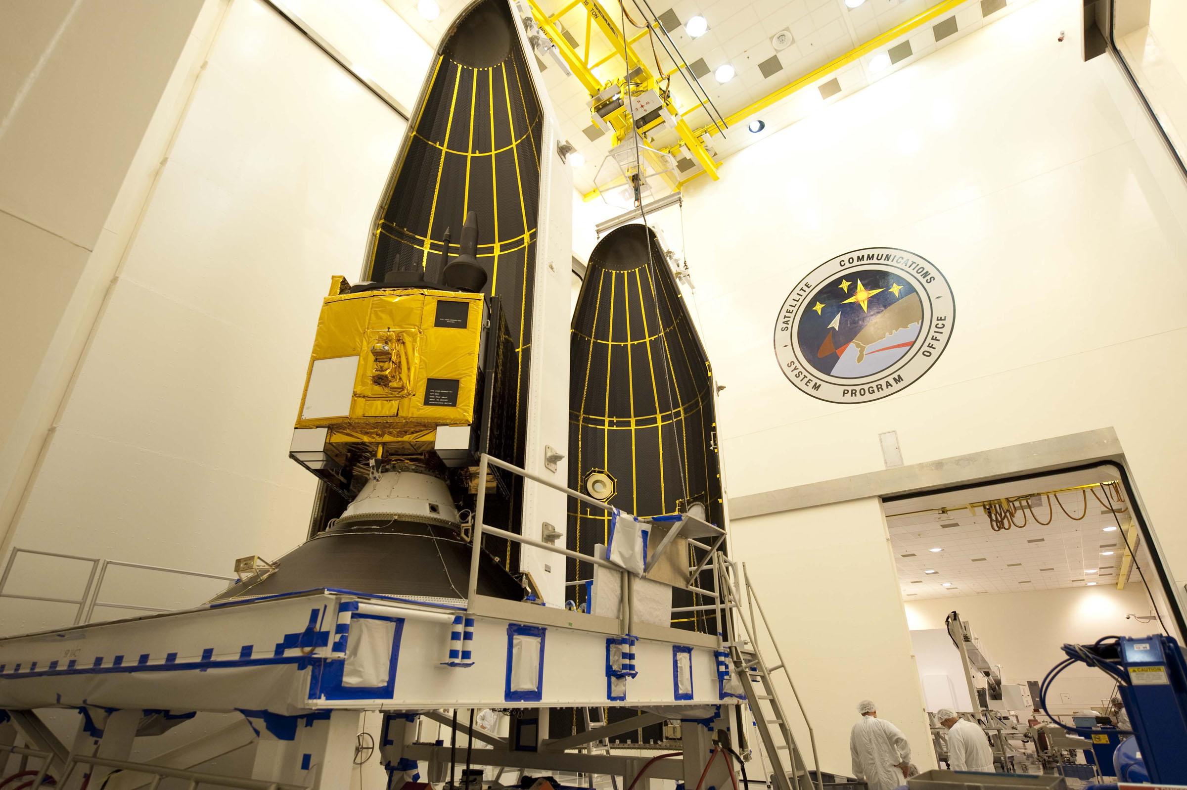 GPS IIF-3 Satellite Encapsulated Up Close