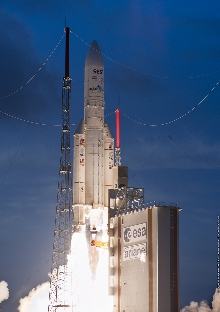 Indian and European Satellites Reach Orbit After Smooth Launch