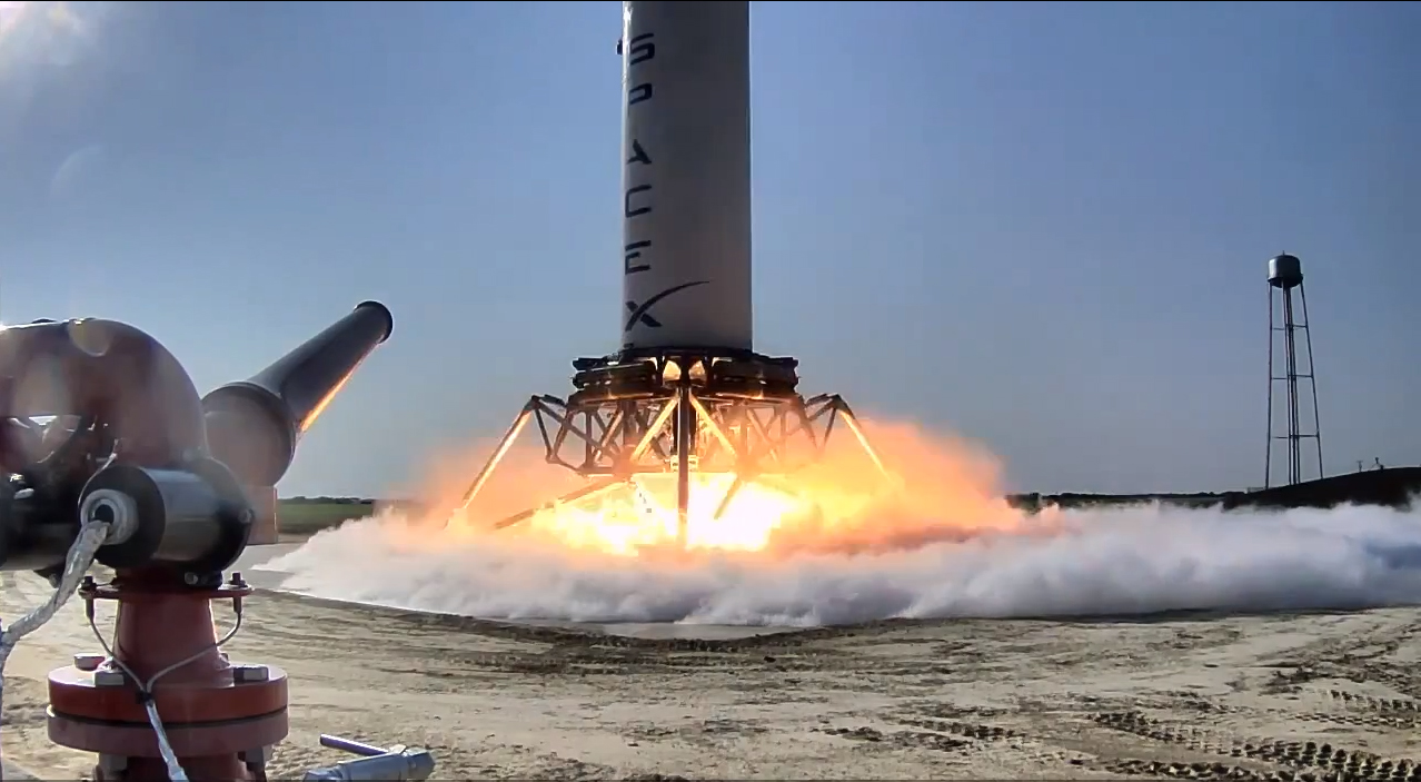 Reusable 'Grasshopper' Rocket Concept Makes 1st Test Flight