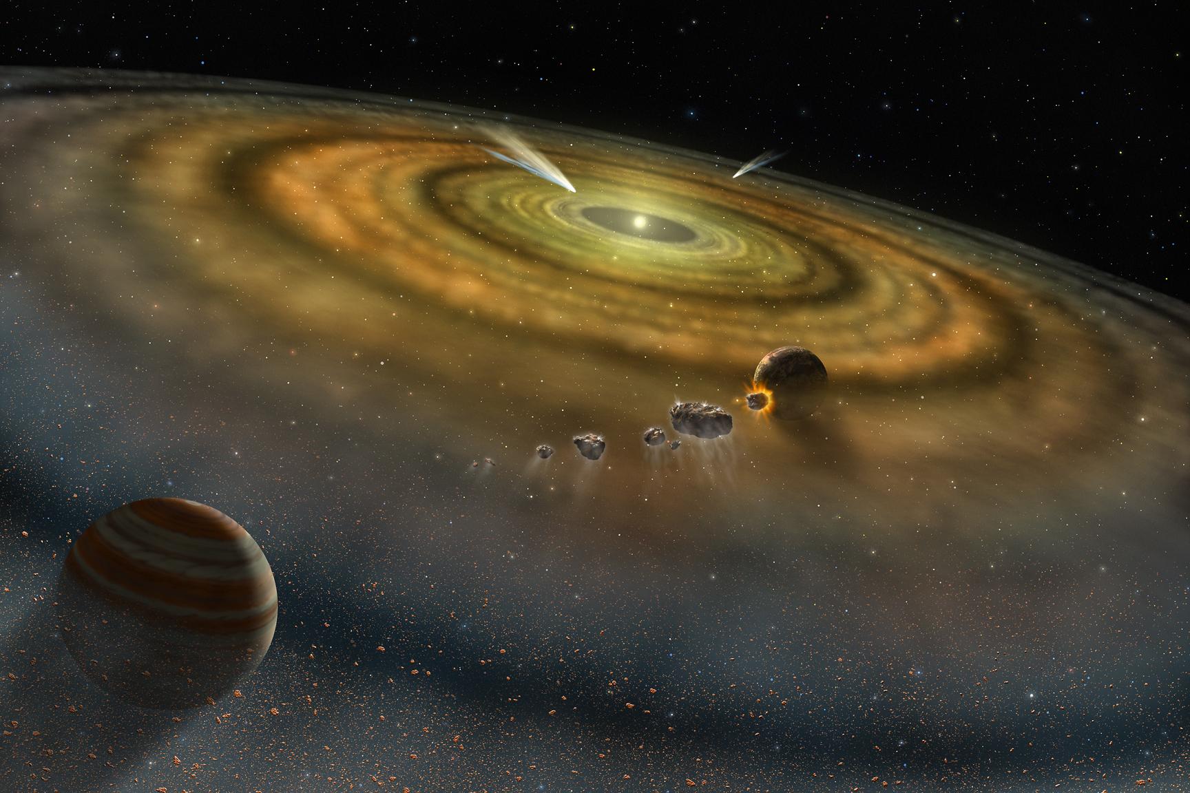 Alien Comet Cloud Spotted Around Faraway Star