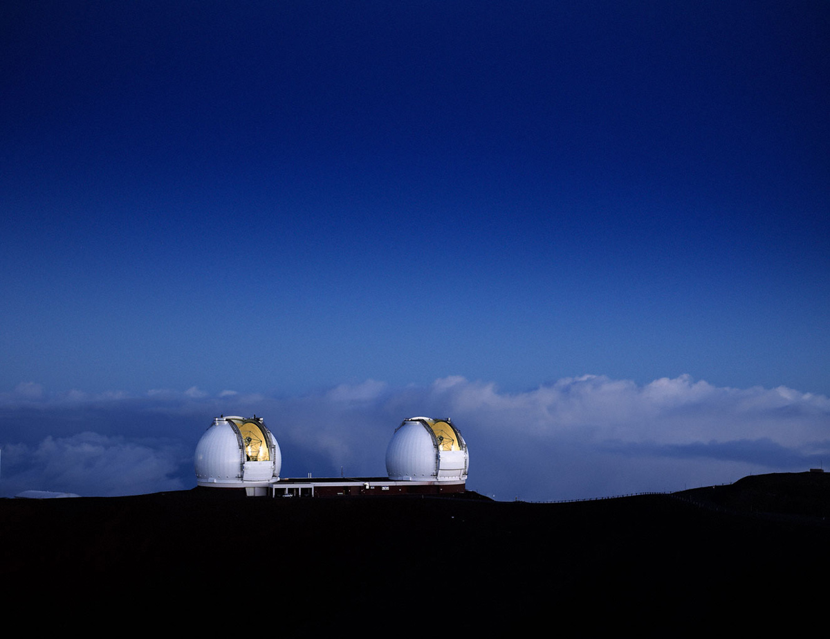 Morning Light on Twin Domes of Keck Observatory