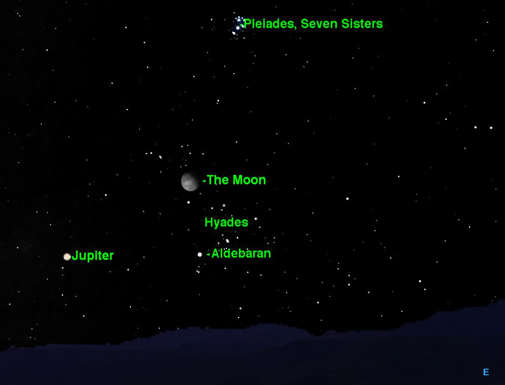 Moon Visits Bright Star Clusters This Week