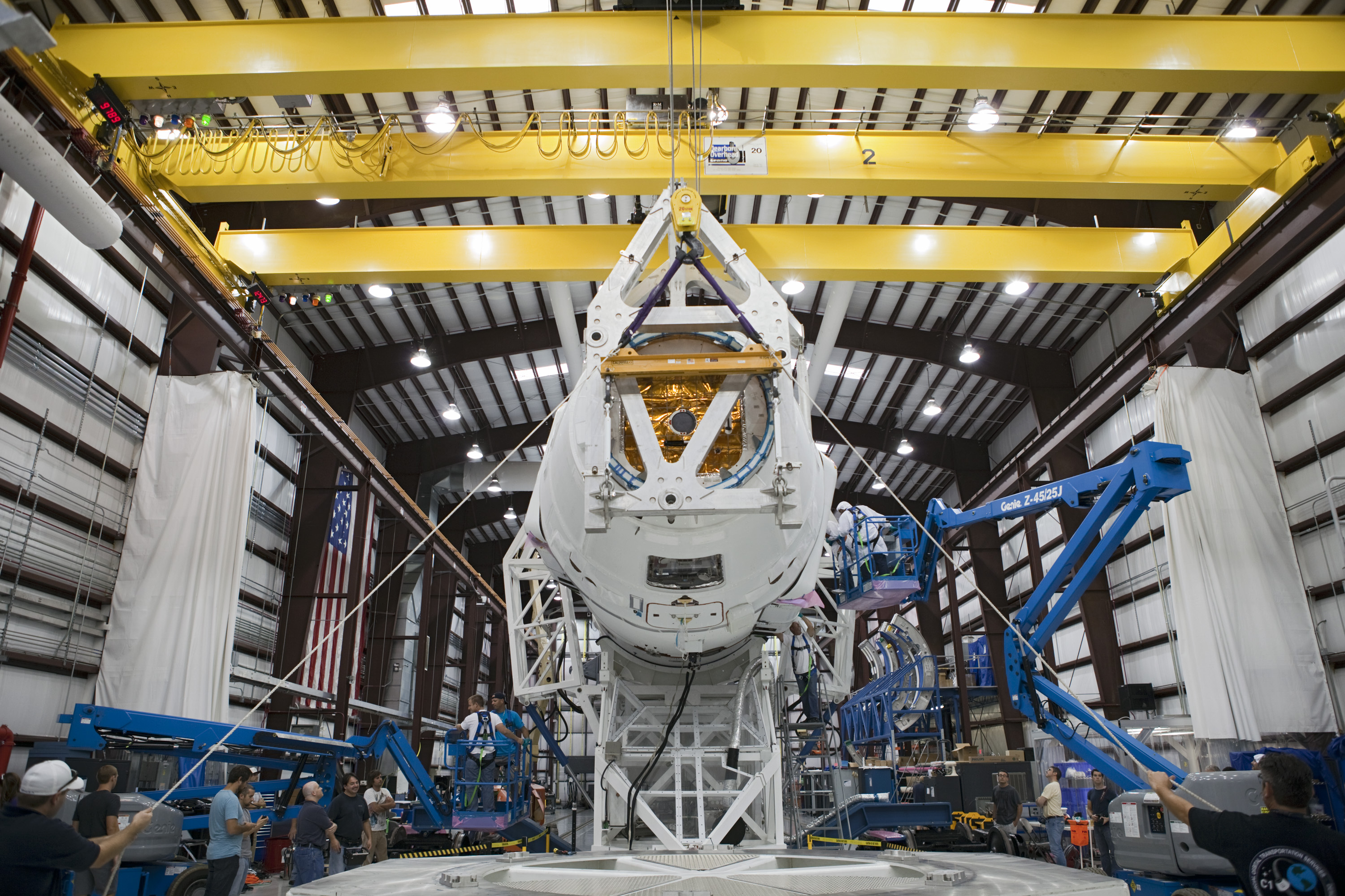 Dragon Spacecraft Attached to Falcon 9 Rocket