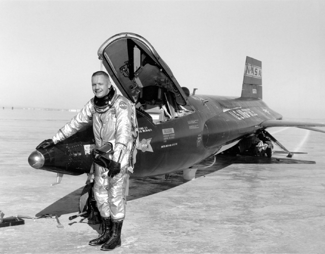 Space History Photo: Pilot Neil Armstrong and X-15 #1
