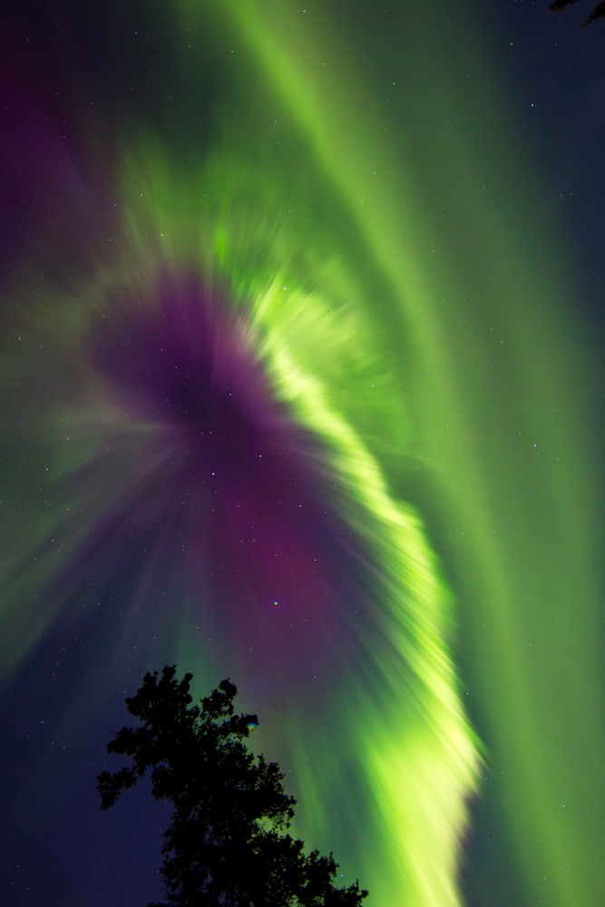 CME Causes Colorful Aurora