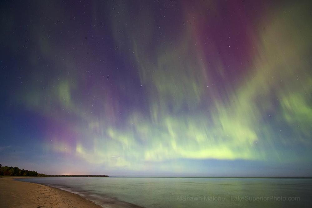 October 2012 Aurora Over Lake Superior
