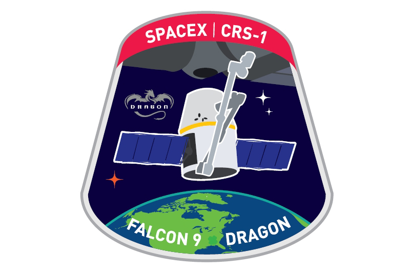 Space Station-Bound SpaceX Dragon Capsule Gets Mission Patch