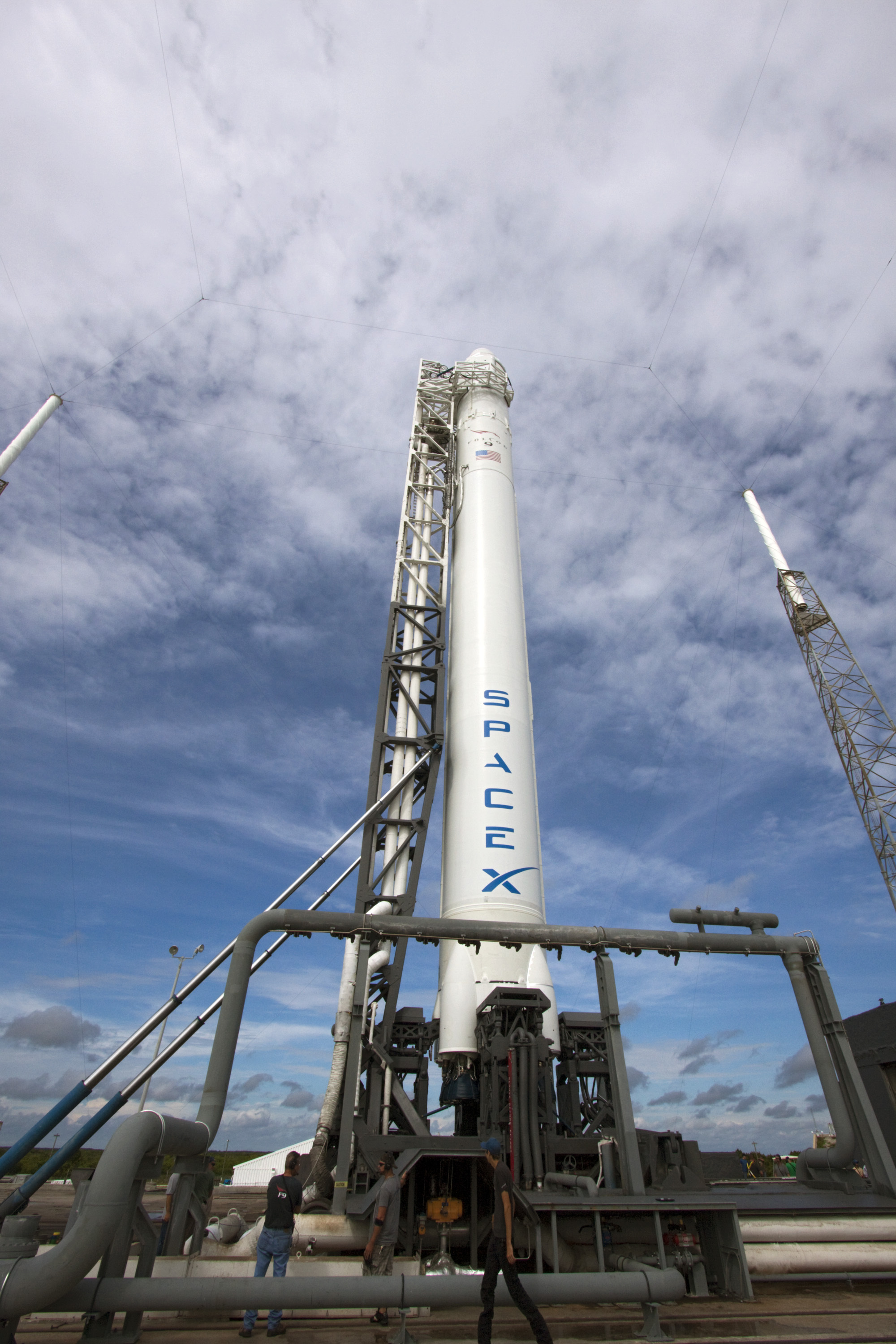 SpaceX's Falcon 9 Rolls Out