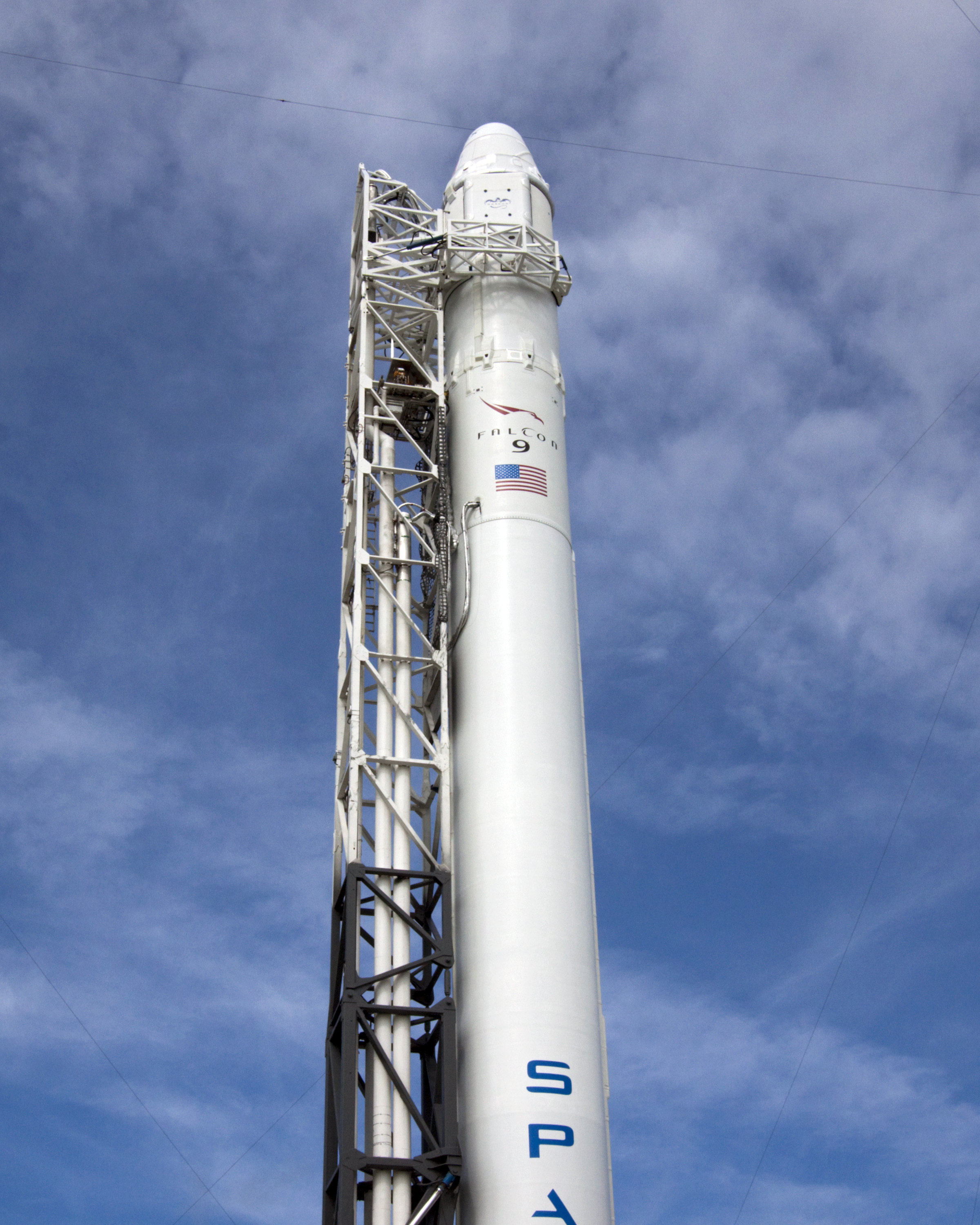 SpaceX's Falcon 9 in Vertical Position