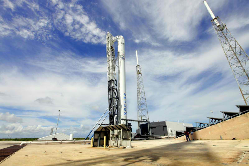 SpaceX Falcon 9 Rocket Poised for Launch
