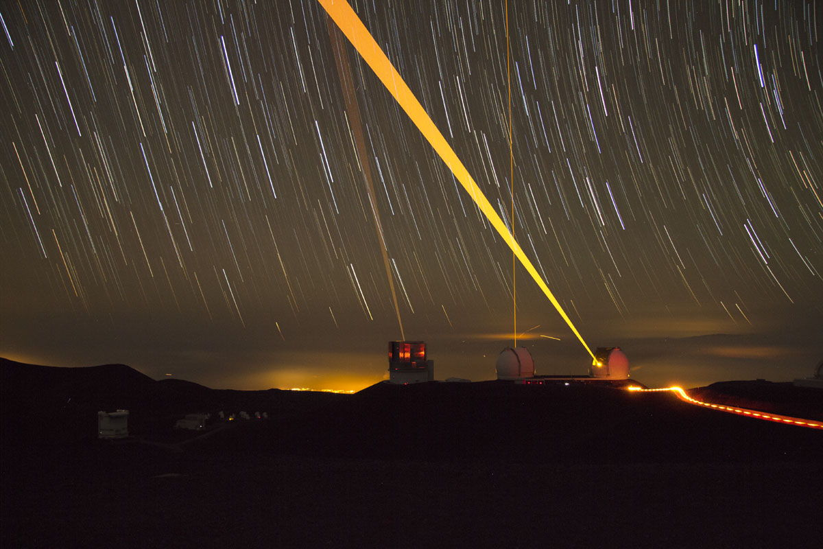 Three Lasers and Light Pollution