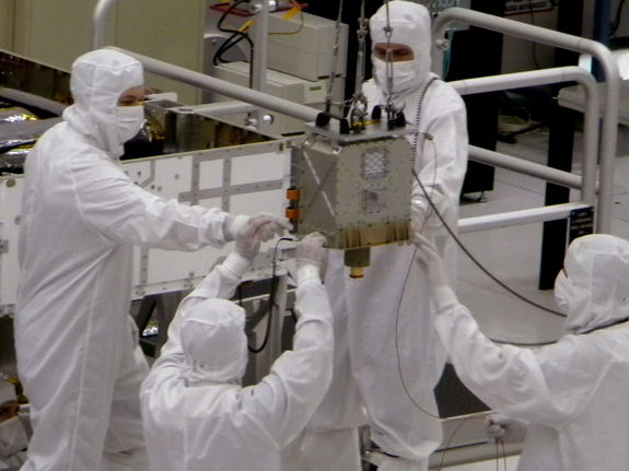 The CheMin instrument was installed on the Martian rover Curiosity on June 15, 2010.