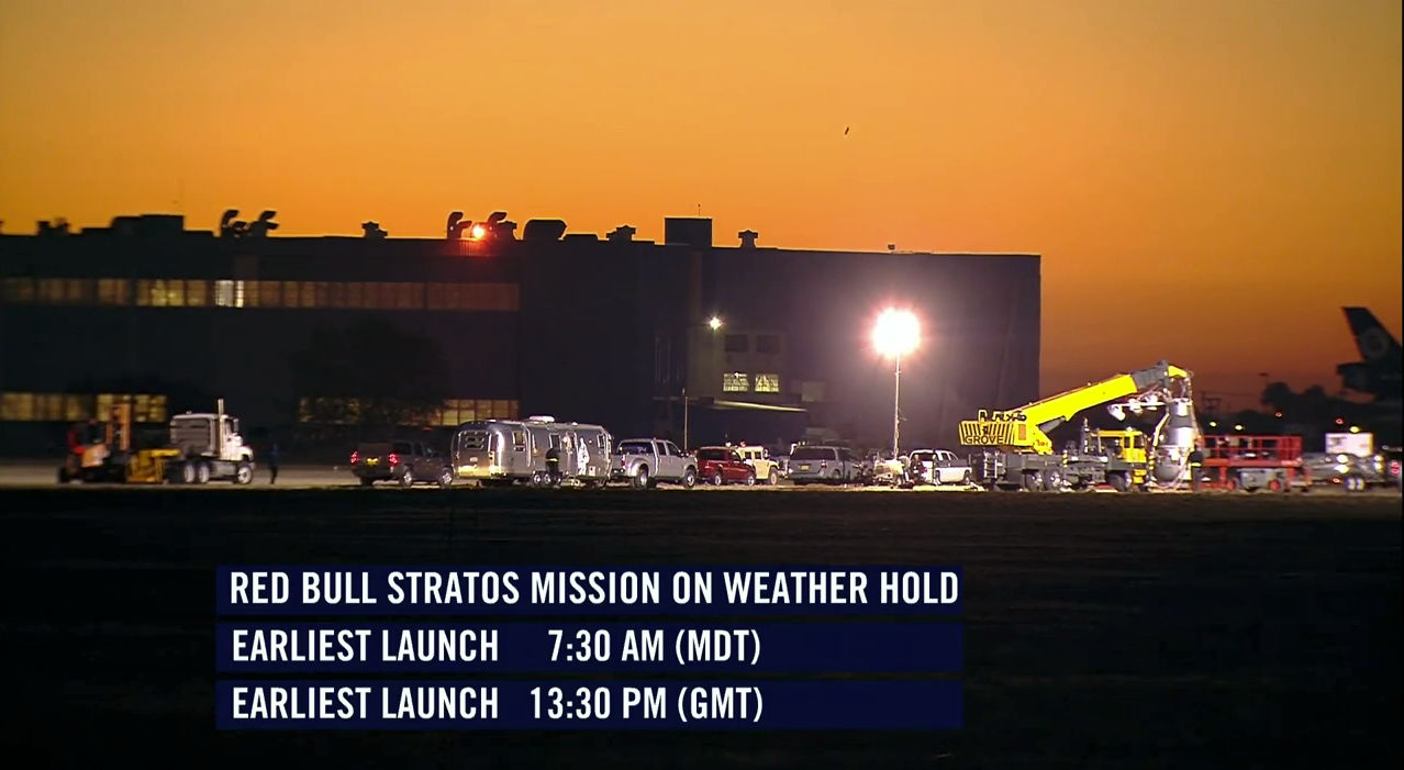 Red Bull Stratos Mission Hold