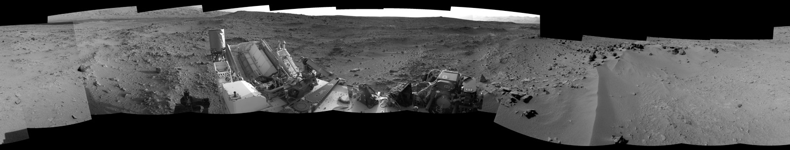 Curiosity's View on the Way to 'Glenelg'
