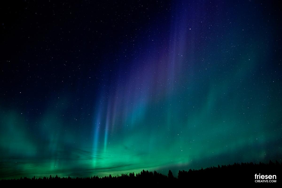 Aurora Near Williams Lake, British Columbia