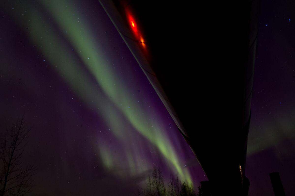 October 2012 Aurora and Pipeline in Alaska