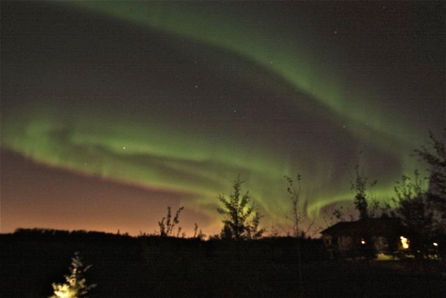 October 2012 Aurora Over Edmonton, AB, Canada