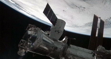 SpaceX Dragon on Space Station: CRS-1