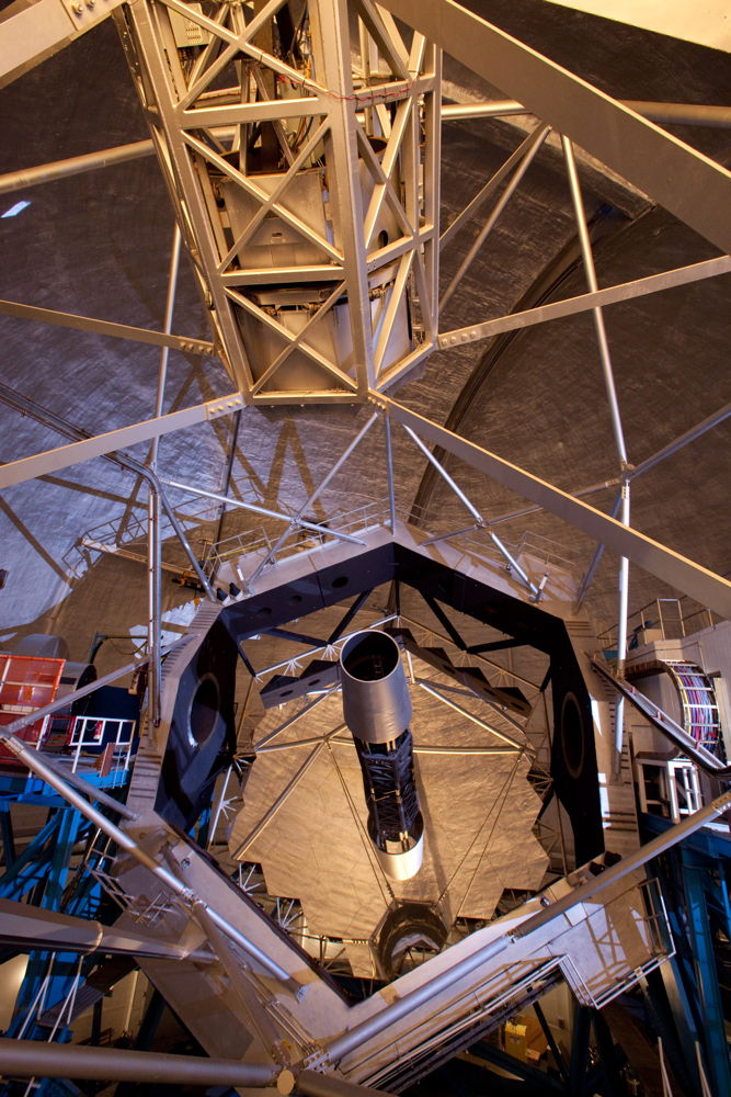 Keck Telescope Interior