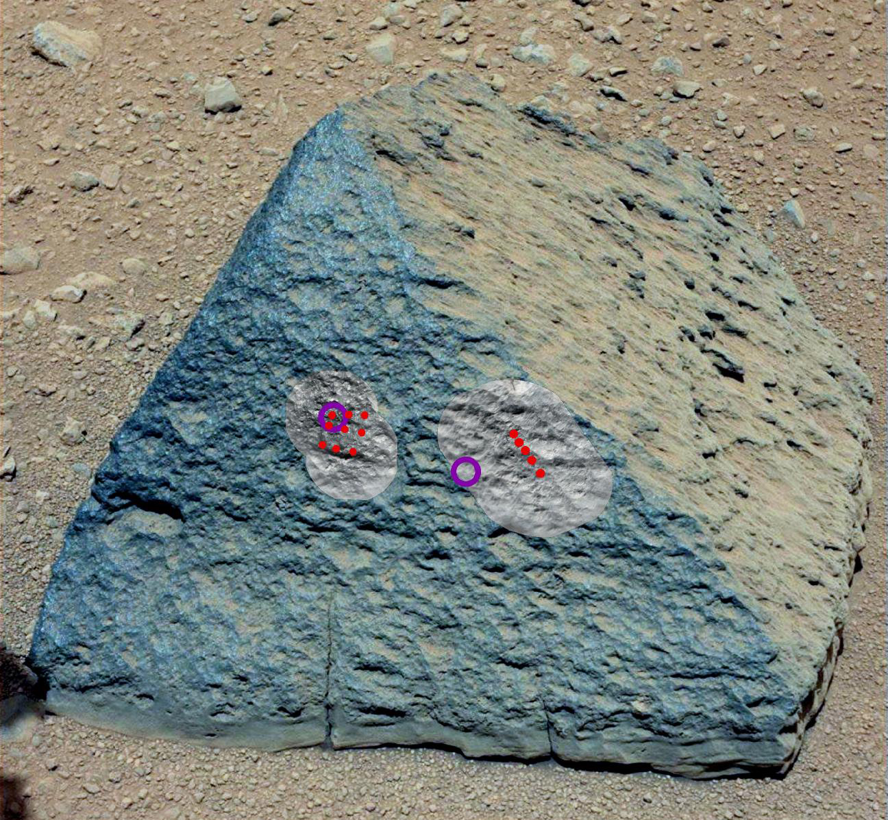Mars Rover Curiosity's Pet Rock 'Jake'