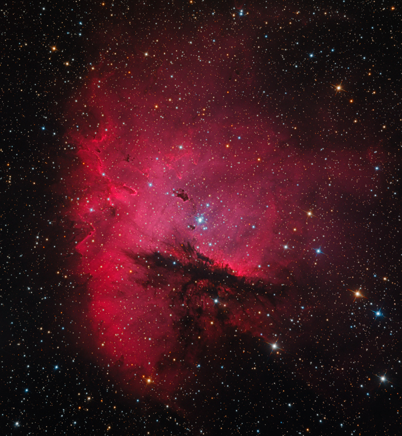 Pac-Man Nebula Chomps Through Deep Space in Photo