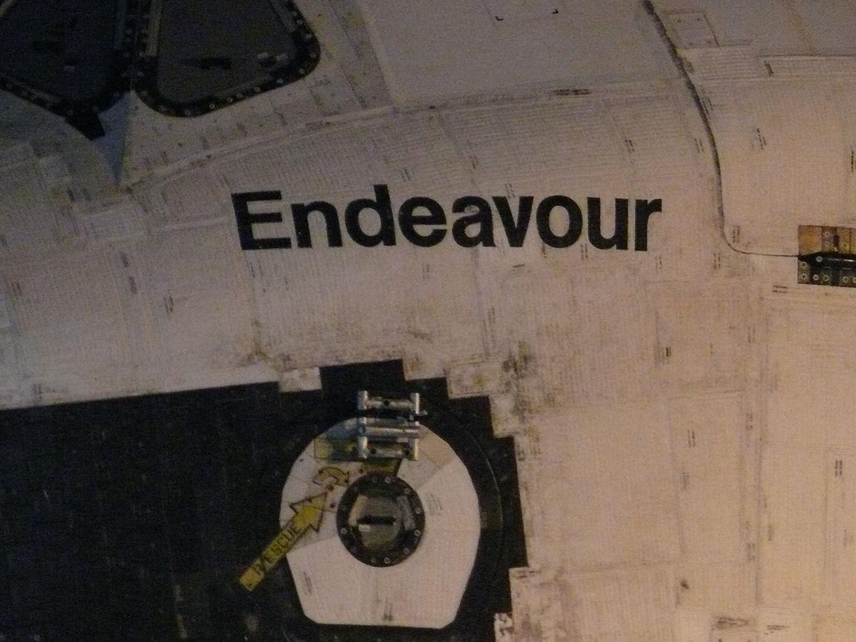 Closeup of Endeavour Near Manchester and La Tijera Blvd.