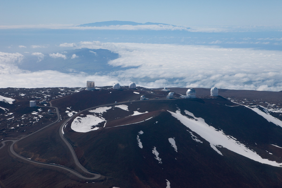 Telescopes on Top of Mauna Kea