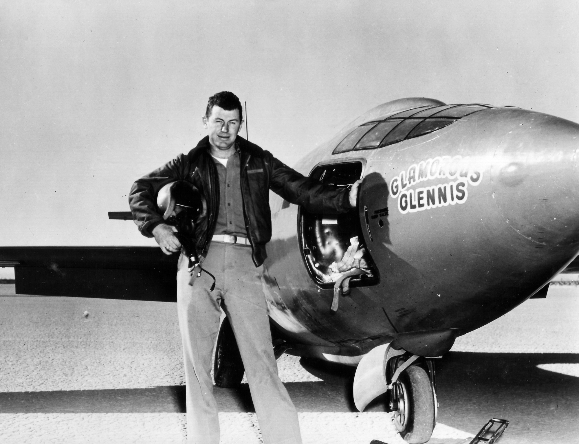 Chuck Yeager and Bell X-1 Supersonic Plane