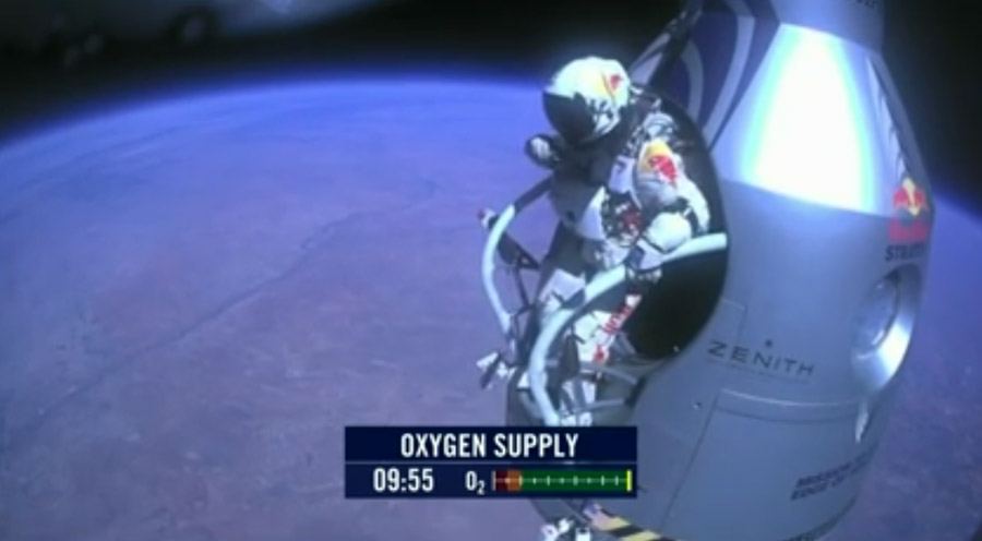 Baumgartner Prepares to Leap