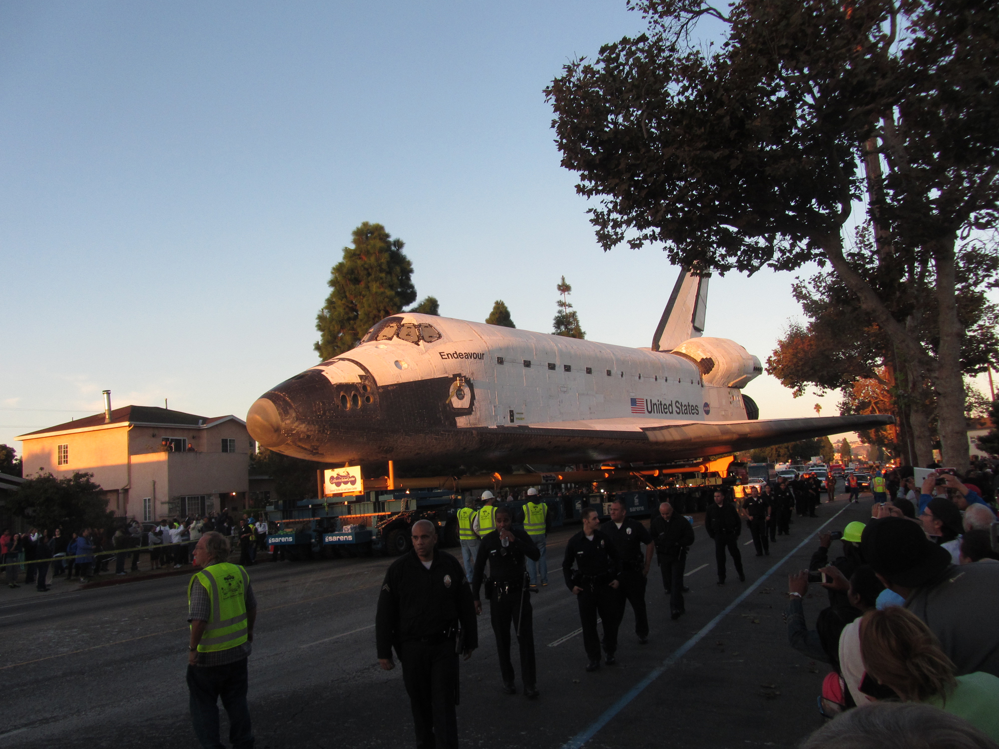 Shuttle Endeavour in the Dawn Light