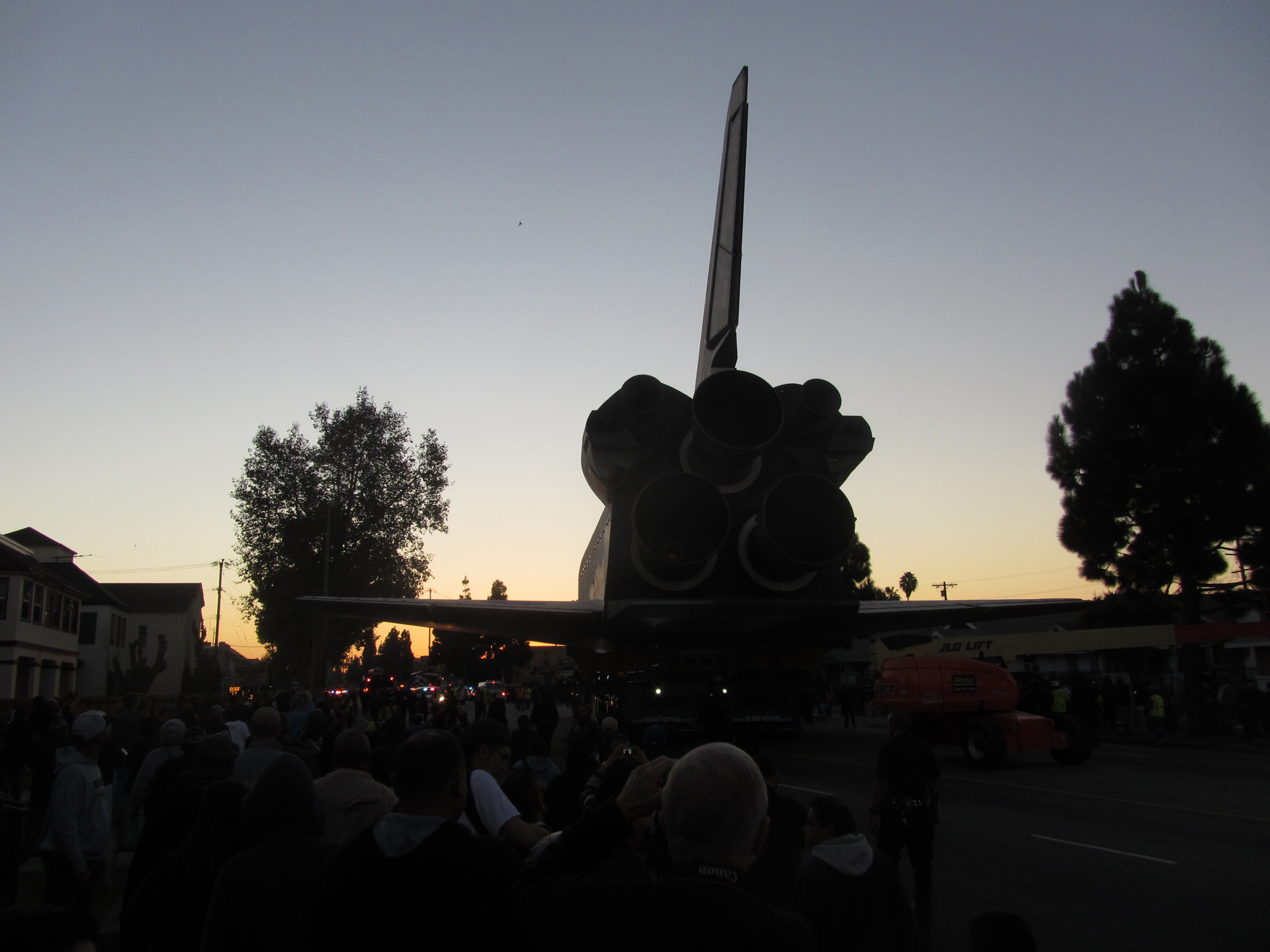 Shuttle Endeavour Rolls on