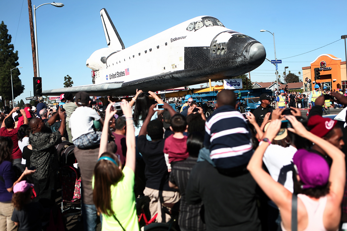 Endeavour on Martin Luther King Jr. Blvd. and Normandie Ave.