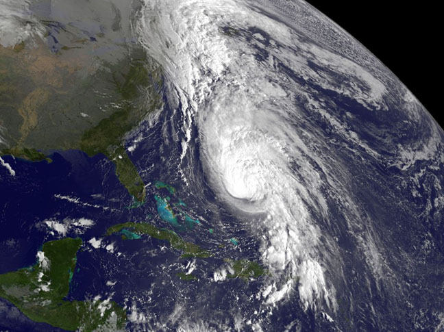 Hurricane Rafael Spotted from Space