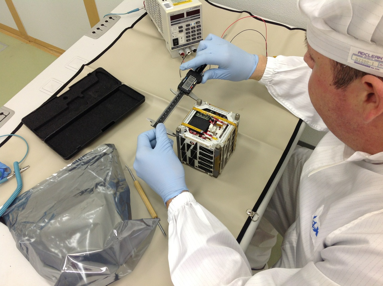 Lab Tech Works on NASA's TechEdSat