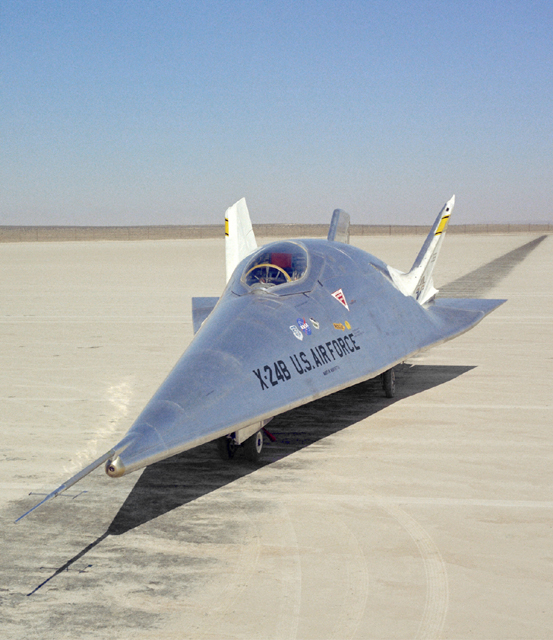 Space History Photo: X-24B on Lakebed